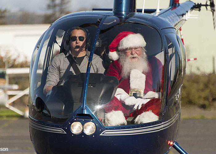 Santa Helicopter Fly-In